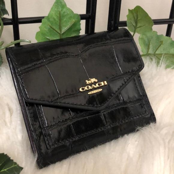 Coach black leather wallet